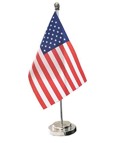 American Flag for Office Decoration,USA Desk Flag Table Flag Stand Base Flag for Festival