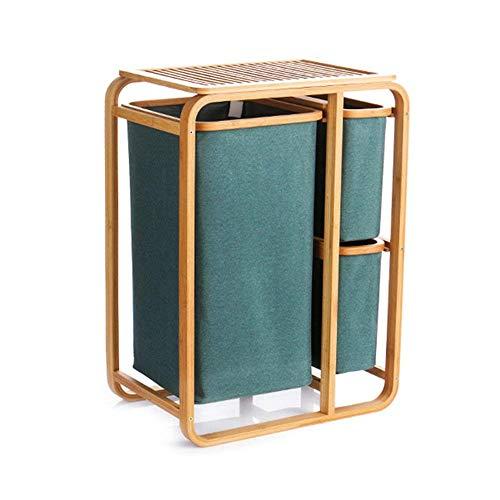 ZYL-YL Oxford Tela cesto de la Ropa Sucia almacenaje de la Ropa de Tela Impermeable Creativo de bambú Natural for Suelo de Almacenamiento en Rack Desmontable y Lavable Estilo Opcional (Estilo: 04)