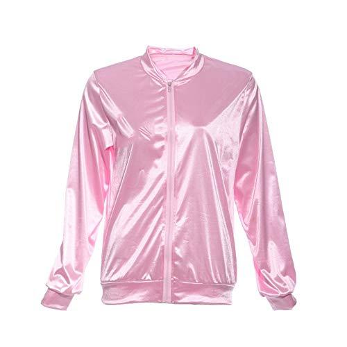 YHXMG Dames Tops Vrouwen Basisjassen Effen Tracksuit Voor Vrouwen Jas Vrouwen Fancy Jurk Vet Kostuum Roze