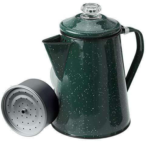 GSI Outdoors Kaffeekanne für 12 Tassen, emailliert, für Campingplatz, Kabine, Wohnmobil, Küche, Gruppen, Rucksackreisen