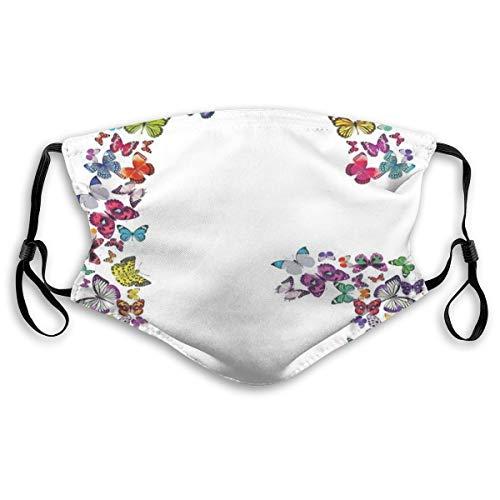 Wiederverwendbare Sicherheitsabdeckungen,Exotic Colorful Butterflies In The Shape of Letter G Cute Feminine Girls Design,alle Länder in Polyesterabdeckungen,for Adults