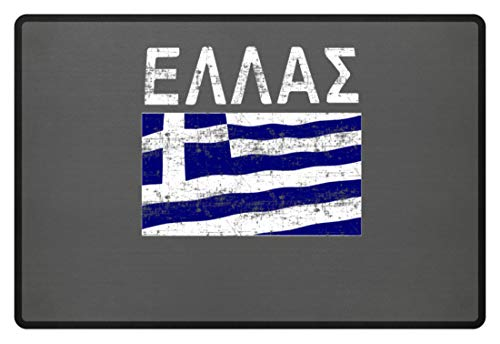 Griechenland - Fahne, Flagge, Griechisch, Grieche, Griechin, Hellas, Hellenen, Athen - Fußmatte