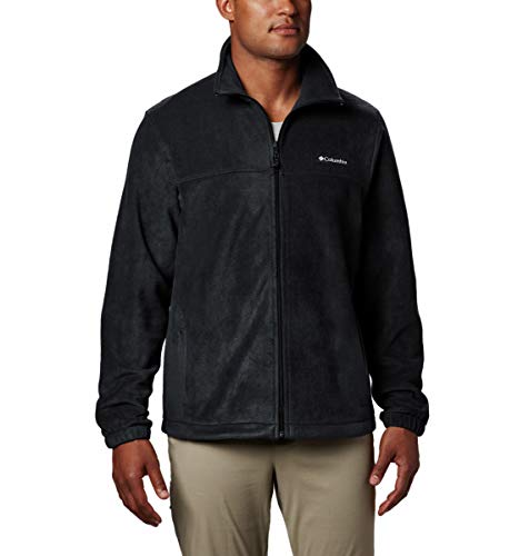 Columbia Men's Tall Size Steens Mountain Full Zip 2.0, Soft Fleece with Classic Fit, Black, 2XT