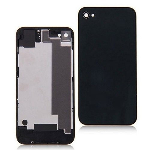Goliton New replacement battery cover back door rear glass for iPhone 4S A1387 - Black