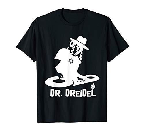 Mens Chanukah Gift Funny Dr. Dreidel DJ Hipster Graphic T-Shirt