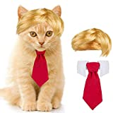 Cat Dog Costume- Cute Style Pet Costume Dog Wig Pet Cosplay Clothes & Hair Accessories Pet Head Wear Apparel Toy for Christmas Halloween Parties Pet Cosplay