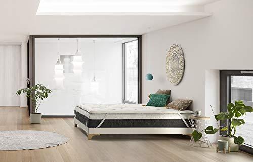 THE WISE FROG - COLCHON DESENFUNDABLE Premium Modelo Urban + 1 Topper | SOBRECOLCHÓN VISCOELÁSTICO (160 x 190 cm)