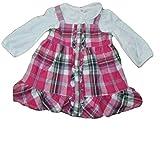 Chaps Girls Jumper Dress & Shirt Set, Size 6 Months Pink/White