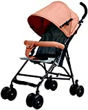 Cochecito de bebé ligero, cochecito de bebé compacto plegable con respaldo reclinable, cesta de la compra plegable con una mano, B (color: A)