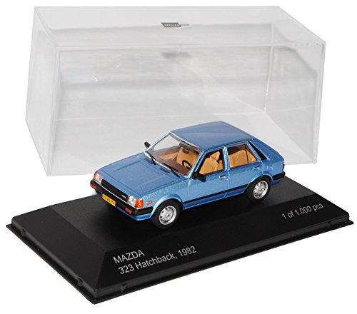 Whitebox Mazda 323 5 Türer Hatchback Blau 2. Generation 1980-1985 1/43 Modell Auto