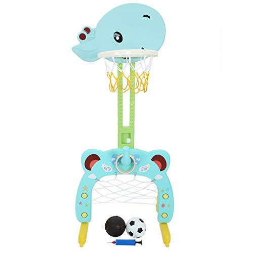 3 in 1 Adjustable Basketball Hoop Stand Basketball Ring Toss Soccer Basketball Hoop Set Toy Sports Activity Center Children Indoor Sports Pitching Frame Toy Best Gift (Multicolor)