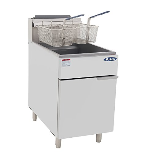 Atosa USA ATFS-75 (High BTU 170k) Heavy Duty 75 lbs Stainless Steel Deep Fryer - Natrual Gas