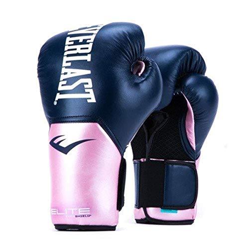 Everlast BXEVGL-P1195 Guantes de Boxeo para Mujer, Rosa/Azul, 12oz