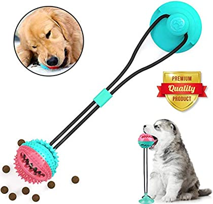✔ Spielzeug zum Mitnehmen: Dieses Spielzeug kombiniert Interaktionsspielzeug, Slow Feeder, Zahnreiniger und Backenzahnfunktion in einem. Dieses Spielzeug ist perfekt für Tauziehen. Darüber hinaus ist dies auch ein gutes Werkzeug zum Reinigen der Zähn...