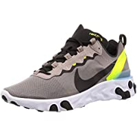 Nike React Element 55, Zapatillas de Trail Running para Hombre, Multicolor (Pumice/Black/White/Blue Chill 201), 43 EU