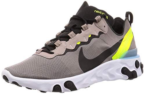 Nike React Element 55, Zapatillas de Trail Running para Hombre, Multicolor (Pumice/Black/White/Blue Chill 201), 43 EU