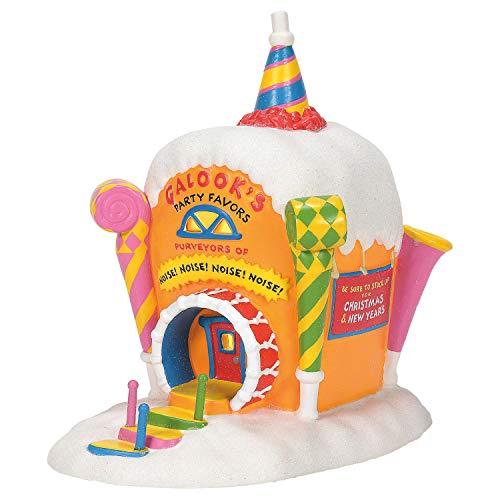 Department 56 Grinch Village Whoville Galooks Party Favors Lit Building, 7.5 Inch, Multicolor