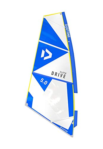 DuoTone Drive_Cloth - Vela para windsurf (1,5 cm), color azul y blanco