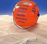Bema - Boya hinchable con cuerda de sujeción y cuerda adicional de aprox. 5 m, aprox. 40 x 35 cm (inflada), boya de buceo