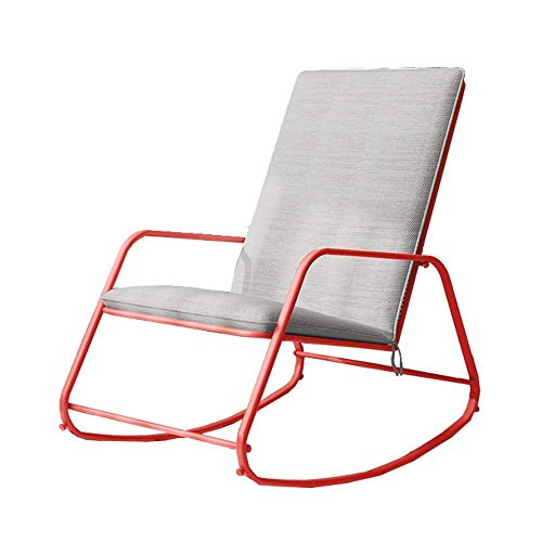 LIZANAN Rocking Chair Rocker Relax Rocking Chair Lounge Chair (Color : Red, Size : 90x80x58cm) Kitchen Chairs