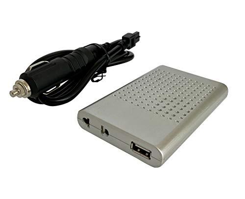 Melchioni 380003023 Inverter 100 W Csb5 12 V Slim met USB-uitgang en stekker voor auto en vliegtuig