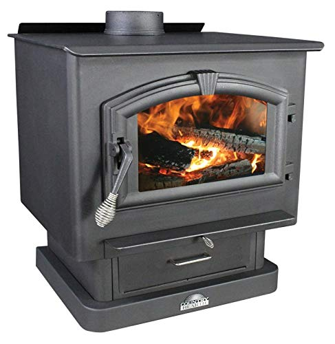 US Stove Wood Burning Stove with Blower 2500 Sq. Feet