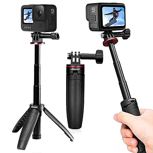Ulanzi MT-09 GoPro 三脚 自撮り棒 セルカ棒 gopro10 gopro hero9 osmo 三脚 3way 伸縮一脚 GoPro専用 アクションカメラ 三脚 軽量 Cameres DSLR アクションカメラ対応