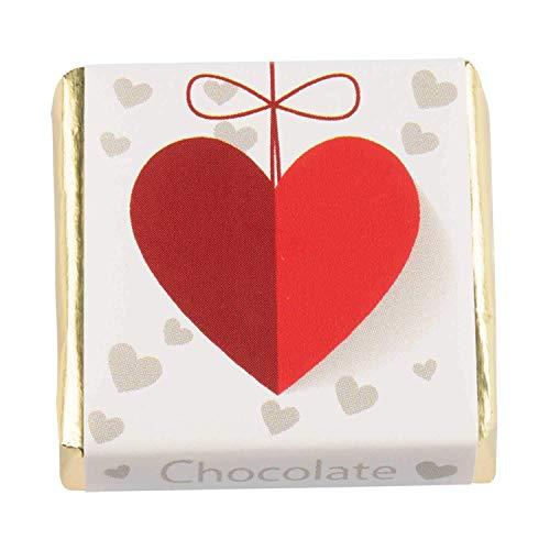 135 Stück Schokoladen-Nougat-Tafeln verschiedene Motive, mit Nougat-Füllung, Süßigkeiten Box, Gastgeschenke, zum Kaffee, als Tischdeko, Mini Geschenke in Confiserie Qualität (Love)