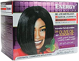 Energy Cosmetics No-lye Hair Relaxer With Olive Oil & Almond Oil - Regular