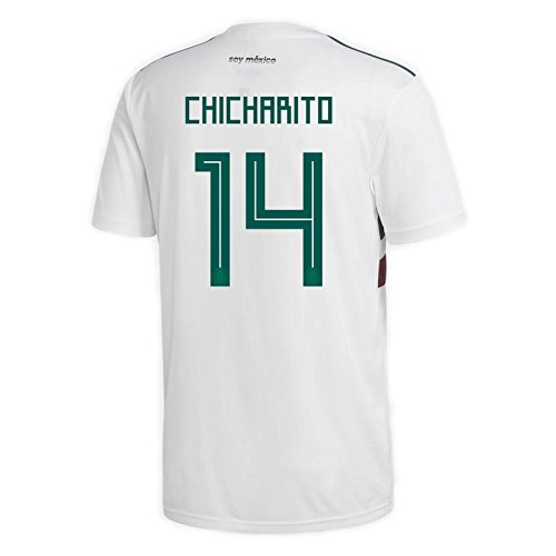 adidas CHICHARITO #14 Mexico Away Men's Soccer Jersey World Cup Russia 2018 (2XL)