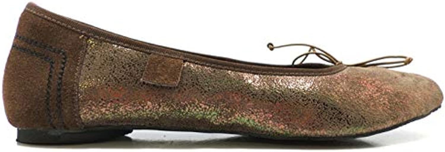 Freddy Flats-shoes Womens Suede Bronze