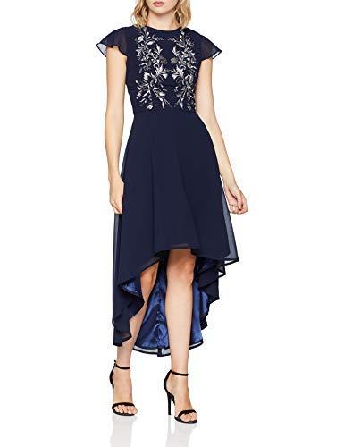 Chi Chi London Hally Vestito Elegante, Blu (Navy NB), 36 Donna