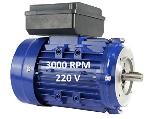MOTOR ELECTRICO MONOFASICO 1,1KW / 1,5CV 220V 3000RPM B14 (BRIDA 120mm) TAMAÑO...
