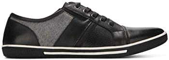Kenneth Cole Reaction Tie and Crown Mixed Media Sneaker (Black)