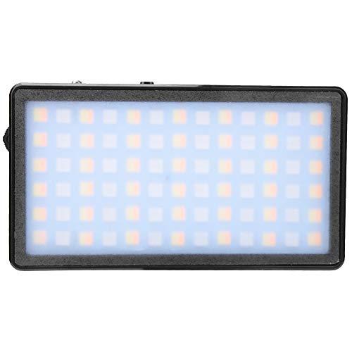 Luce video tascabile a LED, ZF-PL10B RGB 2500-7000K 10W dimmerabile RGB LED Luce per videocamera/videocamera a colori, luce fotografica per fotocamera