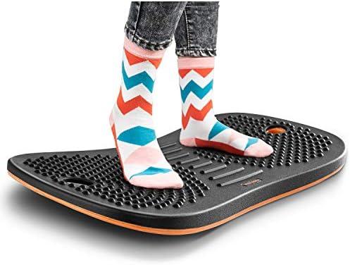 FEZIBO Standing Desk Anti Fatigue Mat Wooden Wobble Balance Board Stability Rocker with Ergonomic product image