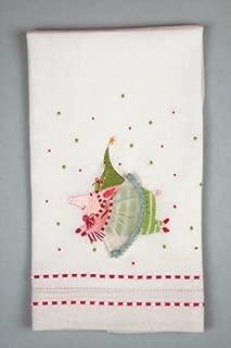 Patience Brewster KrinklesJoyful Pig Tea Towel 30441