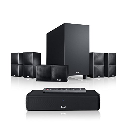Teufel Cubycon Complete Easy Schwarz Heimkino Lautsprecher 5.1 Soundanlage Kino Raumklang Surround Subwoofer Movie High-End HiFi Speaker