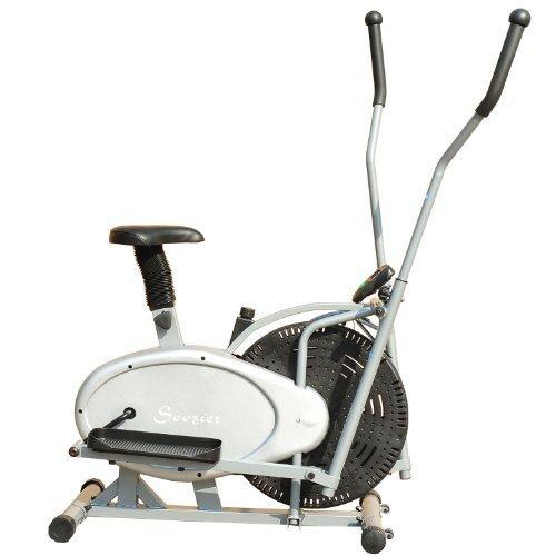 Soozier 2 in 1 Cardio Fitness Elliptical Fan Bike...