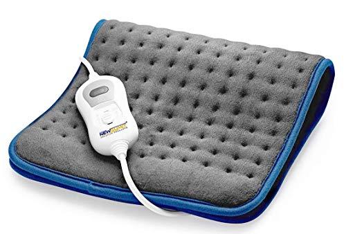 NEWSUMIT Cuscino Termico Termoforo Elettrico - Antidolorifico - 3 livelli di temperatura - Riscaldamento rapido - Protezione spegnimento automatico 90min - 60x30cm.