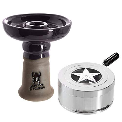 Kaya BigStar Set, Keramik Phunnel, Smokebox, Heat Management Zubehör für Wasserpfeifen (Dark - Lila)