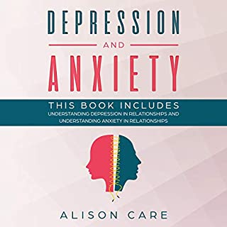 Depression and Anxiety: 2 Self Help Workbooks audiobook cover art