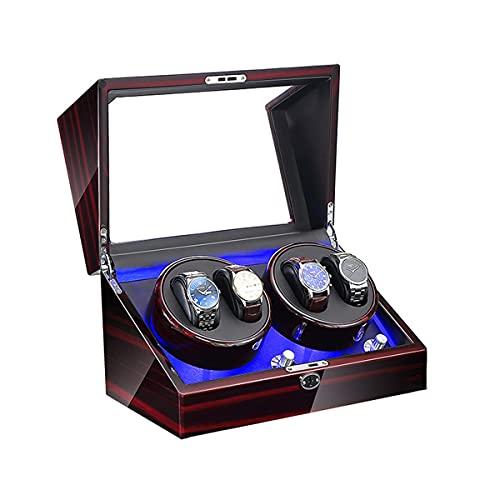 MTFZD Caja Reloj Giratoria, Enrollador Reloj, Relojes Automáticos con LED, Caja Cuerda,agitador De Reloj Mecánico, Relojes para Dama Y Hombre (Color : C, Size : 33X20X20CM)