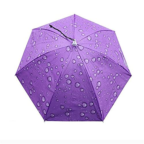 LIZHOUMIL 77 cm Kopf-montierter Sonnenschirm Regenschirm Fischerhut Regenschirm Sonnenschutz Regen Outdoor Angeln Regenschirm Groß Camouflage 77 cm