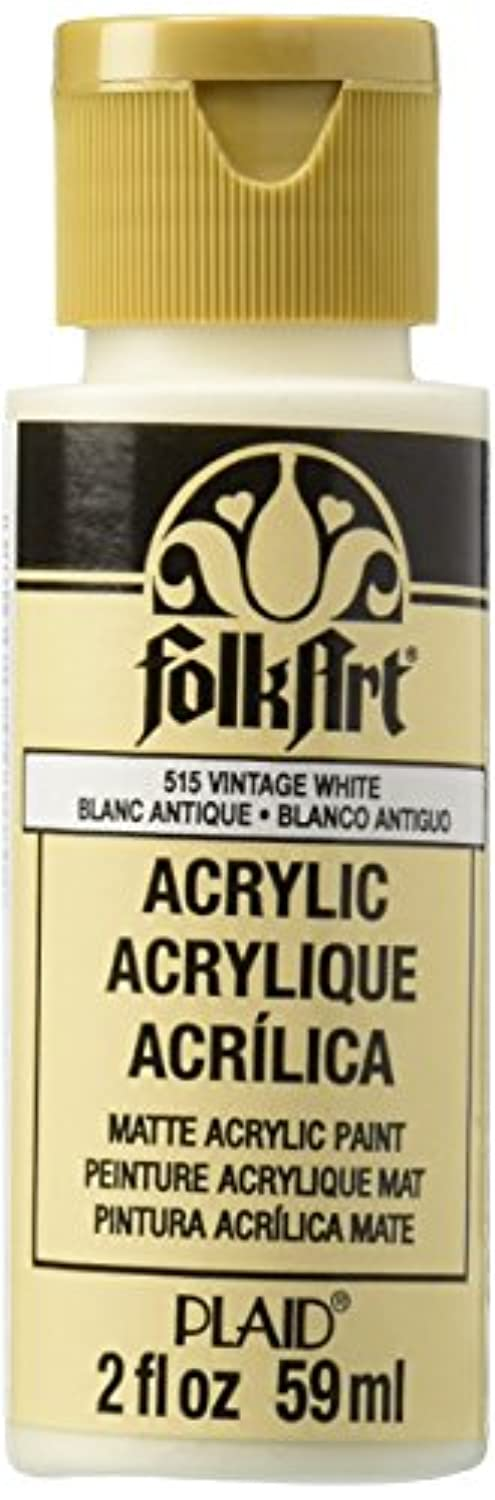 FolkArt Acrylic Paint in Assorted Colors (2 oz), 515, Vintage White