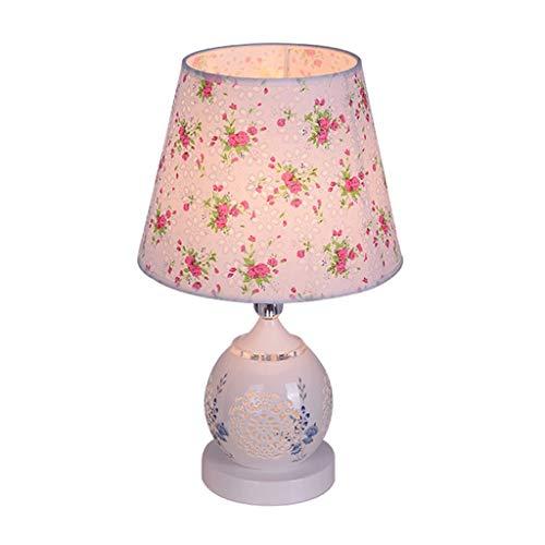 Lámpara de Mesita de Noche Sencilla y moderna lámpara de mesa for el hogar Lámpara de cabecera creativa Iluminación de arriba y abajo Cuerpo de lámpara de cerámica Lámpara de Mesa de Dormitorio Modern