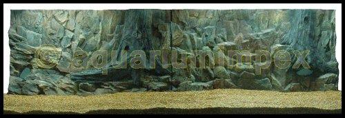 3D Aquarien Rückwand 200x60 Fels mit Wurzel 2TLG.