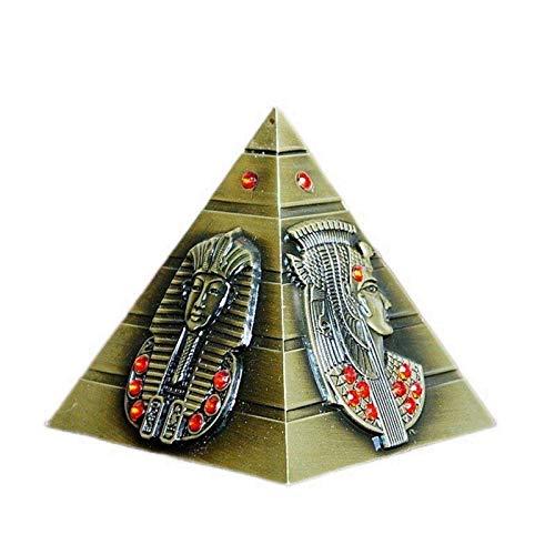 Alcancía con Forma de pirámide egipcia de Metal Creativo, decoración del hogar Vintage, Figuras en Miniatura, Caja de Dinero para Regalo de Cumplea?os