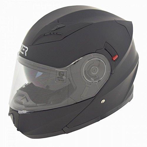 CRUIZER Helm Modular Motorrad zugelassen ece-22–05, schwarz matt, Größe S