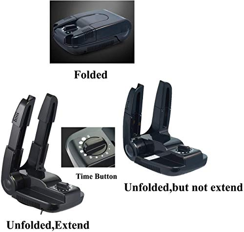 Manledio sèche Chaussures électrique et Plus Chaud, Portable Pliable Évolutifs et séchage Rack...